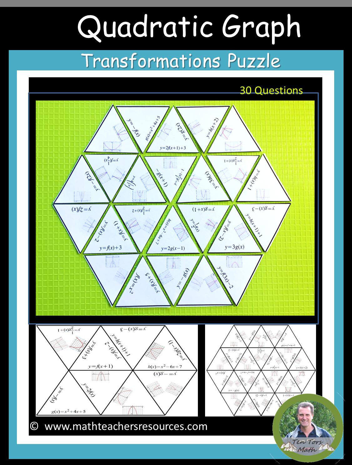 Quadratic Graph Transformations Quadratics Transformations Math Quadratic Functions Activities [ 1486 x 1126 Pixel ]
