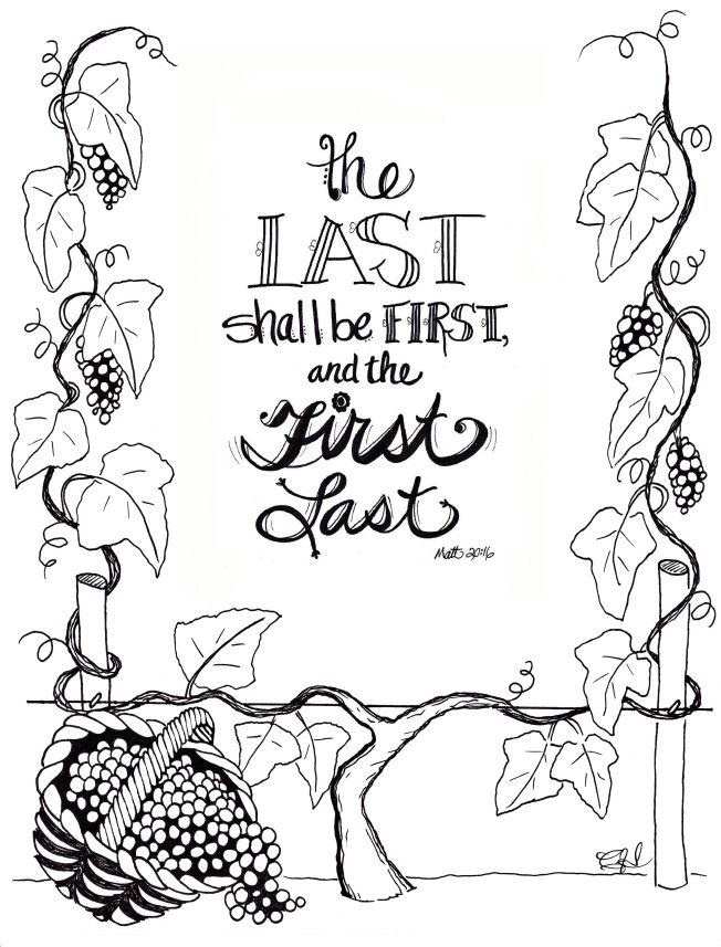 The Parable of the Workers in the Vineyard Free printable, Sunday - copy coloring pages for zacchaeus