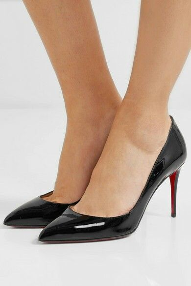 Pigalle Follies 85 black patent leather pumps Christian Louboutin mNdxo8XO