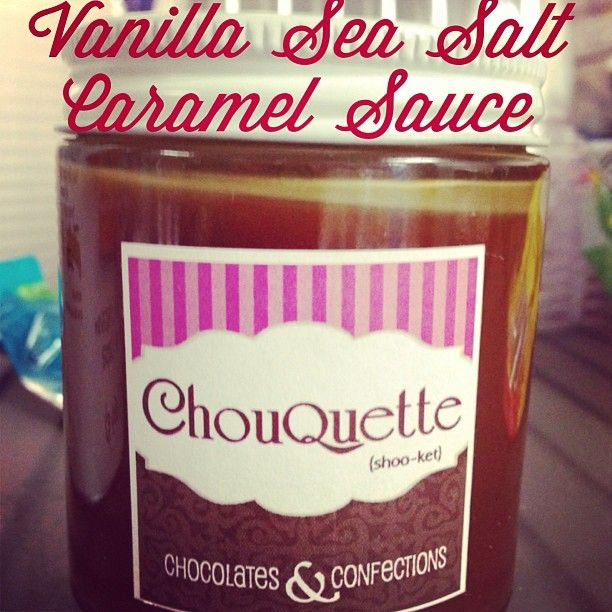 Vanilla Sea Salt Caramel Sauce ... just saying it makes my mouth water! Chouquette Chocolate & Confections #MarthasMarket