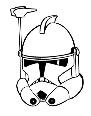 ARC Trooper Helmet | SW Equipment Line Art | Star Wars, Clone wars ...