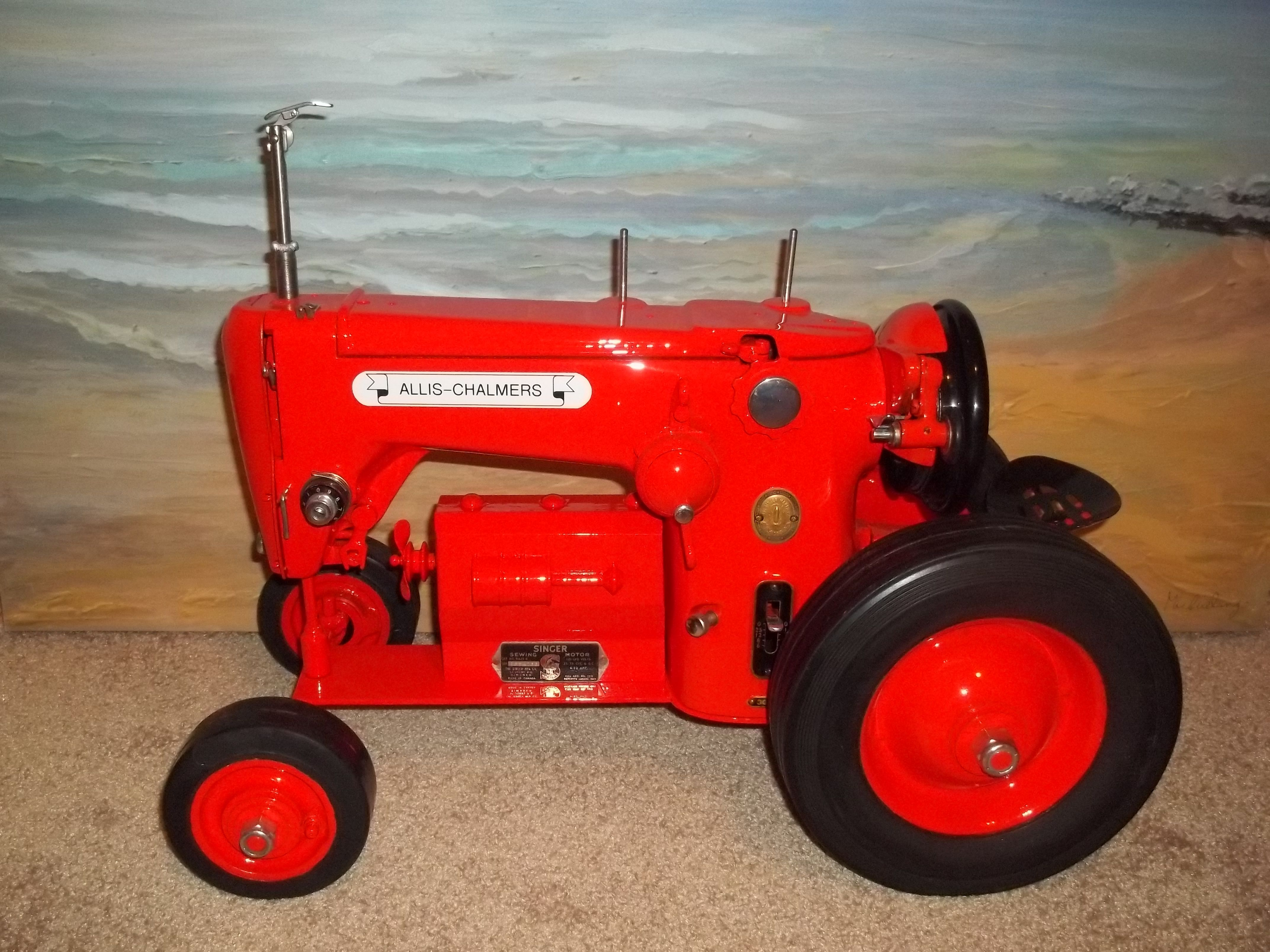 how to make sewing machine tractors