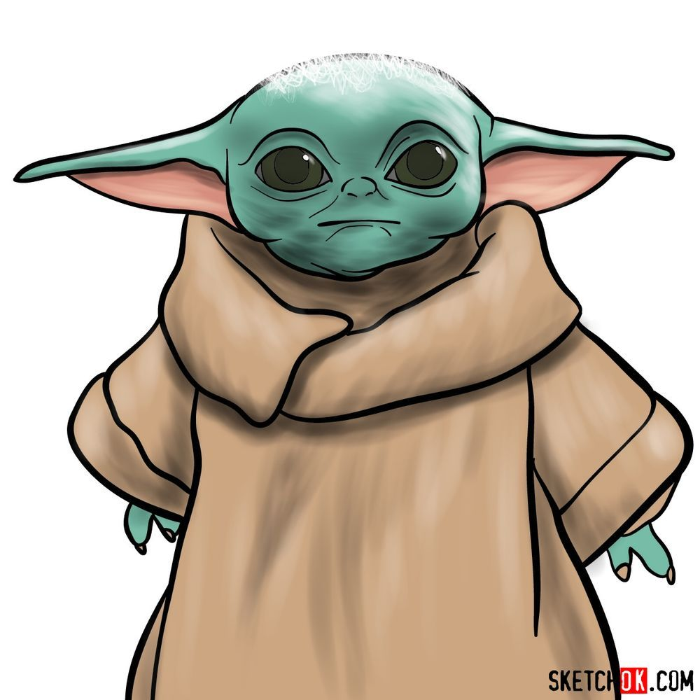 How To Draw Baby Yoda Step By Step Drawing Tutorials Yoda Drawing Baby Drawing Drawings