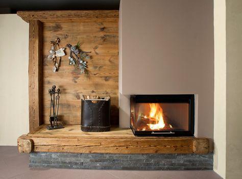 Rustikales Wohnzimmer ~ Offener kamin im rustikalen wohnzimmer foyers interiors and