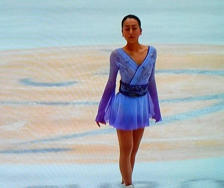 Mao  Asada : kimono on ice.