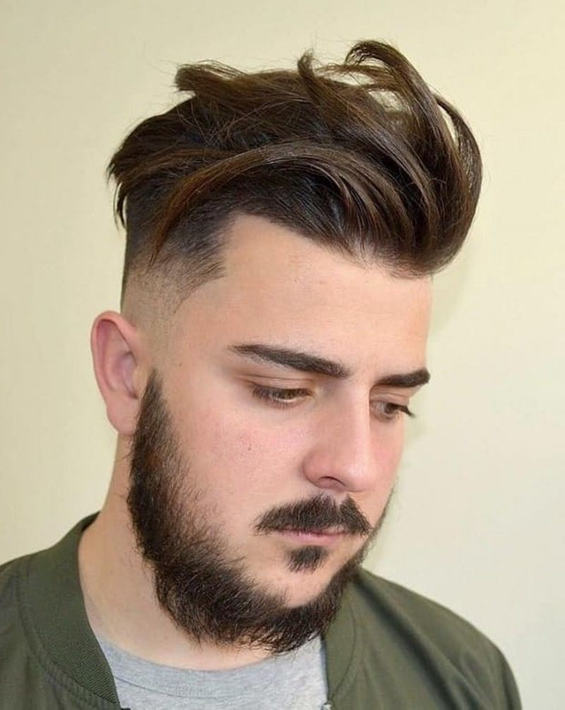 Men 039 S Hairstyle For Round Face Shape Big Forehead Hairstyles For Round Faces Round Face Men Beard Styles