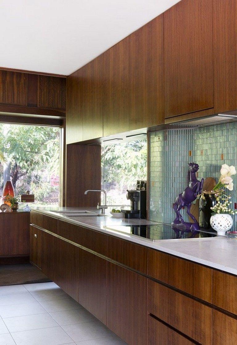 mid century modern farmhouse kitchen
