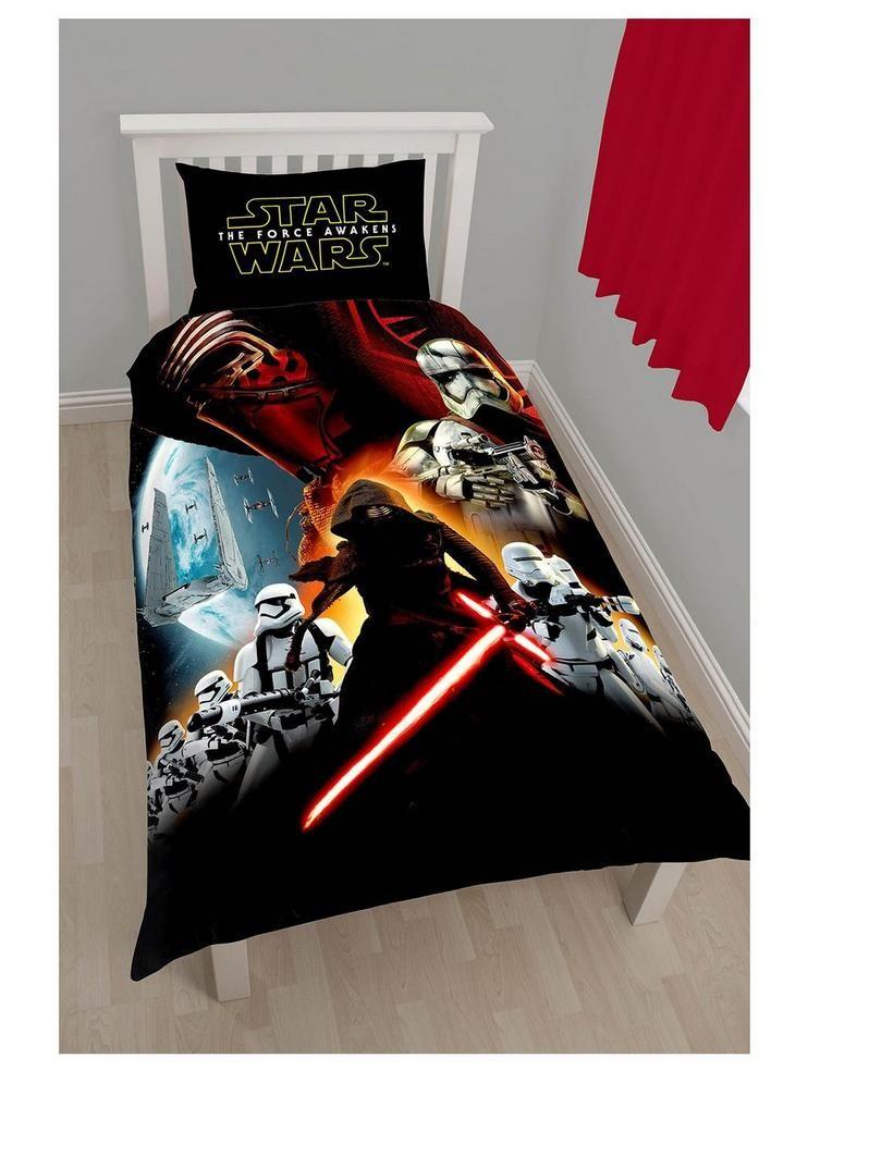 Lego Star Wars /'Seven/' Single Duvet Reversible Bedding Kylo Ren Stormtrooper