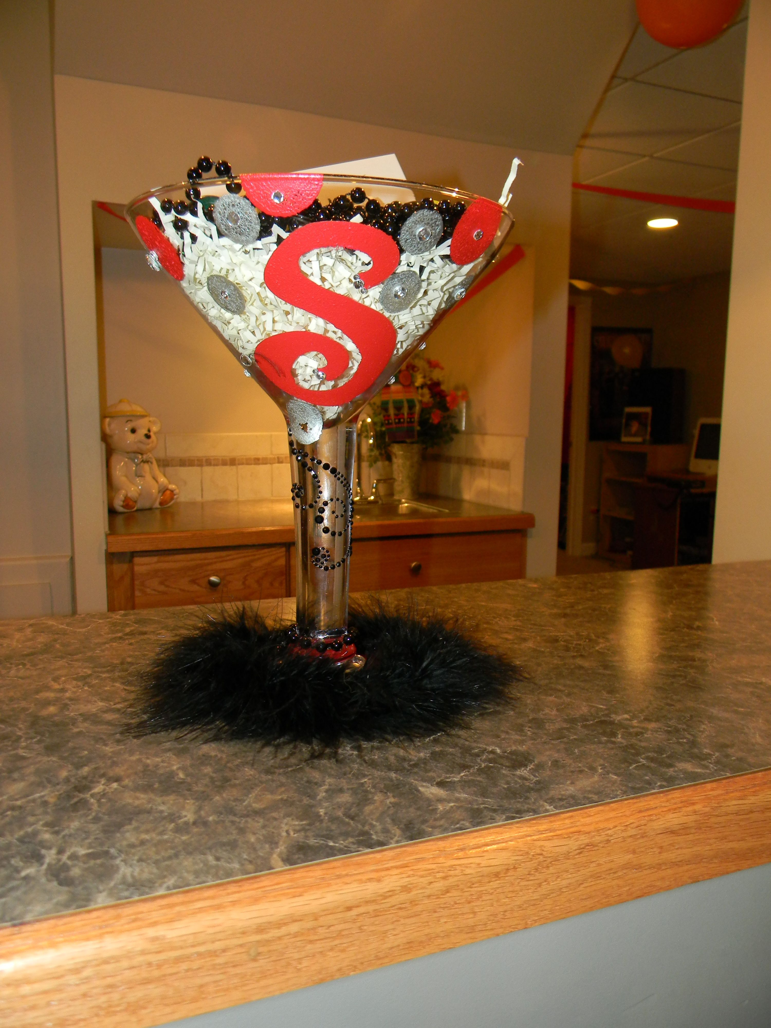 Giant Wine Glass Decorations 21st Birthday Gift Decorate A Giant Martini Glass Craft