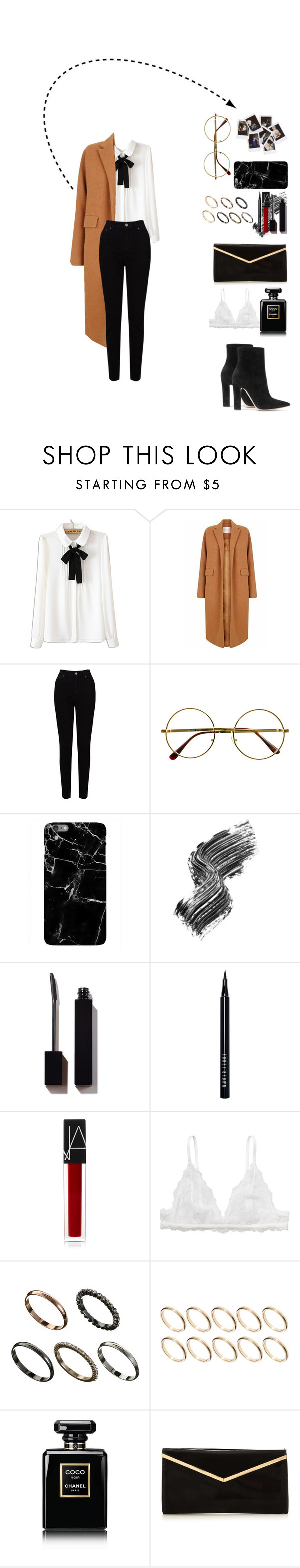 """camel"" by olive0live ❤ liked on Polyvore featuring WithChic, The 2nd Skin Co., EAST, Retrò, Nasty Gal, Harper & Blake, Illamasqua, Bobbi Brown Cosmetics, NARS Cosmetics and Monki"