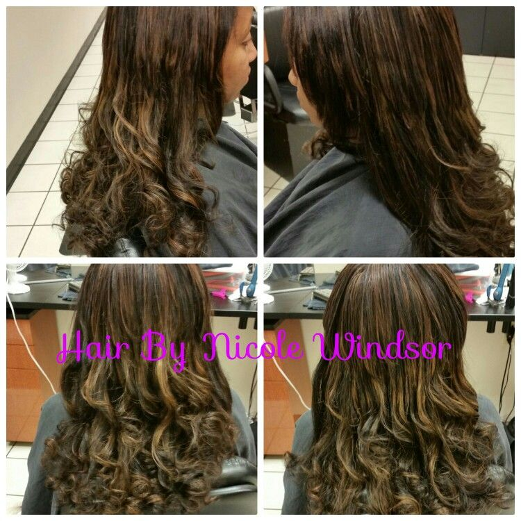 Clip In Extensions Colored To Match Clients Hair Hair By Nicole
