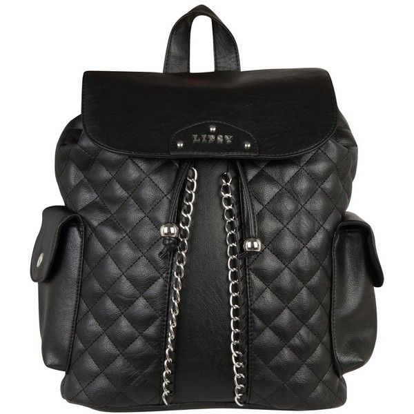 Lipsy Biker Quilted Womens Backpack ($36) ❤ liked on Polyvore featuring bags, backpacks, backpacks bags, knapsack bags, quilted backpack, bike bag and rucksack bag