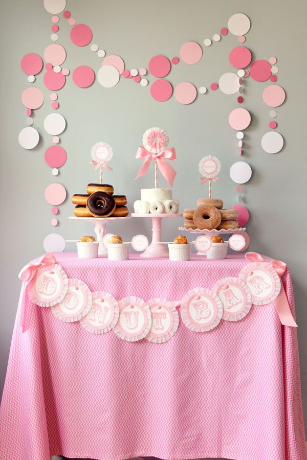 Ideas Para Un Baby Shower Mesa Donuts