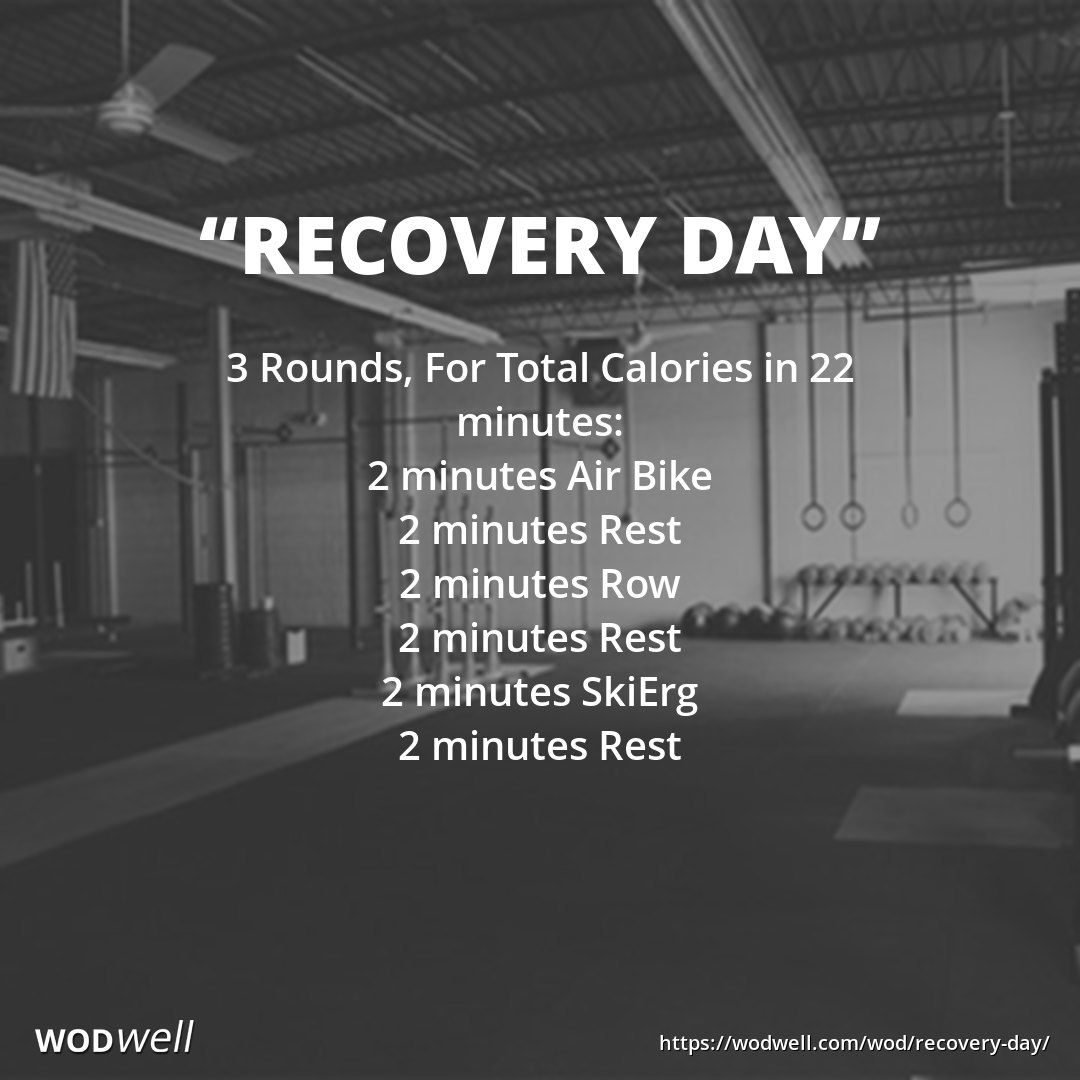 Recovery Day Wod Wod Crossfit Crossfit Workouts Wod Workout