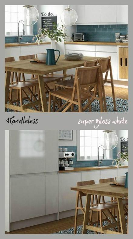 Kitchen white gloss hardware 64 ideas #kitchen   Kitchen ...