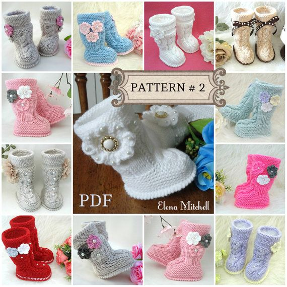 P A T T E R N Baby Booties Baby Girl Shoes Pattern Knitted Baby ...
