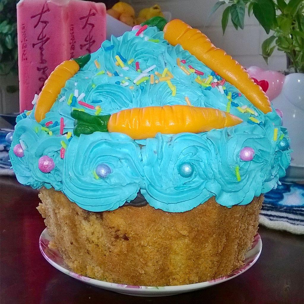 Cupcake gigante de pascua