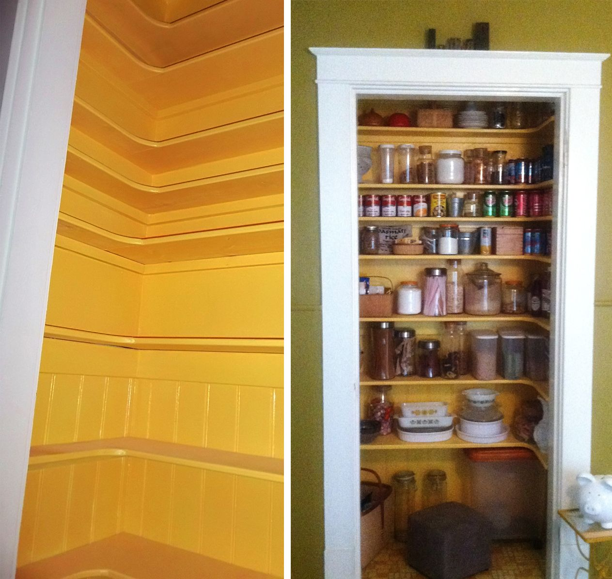 Creating a Pantry out of a Small Closet Kitchen closet