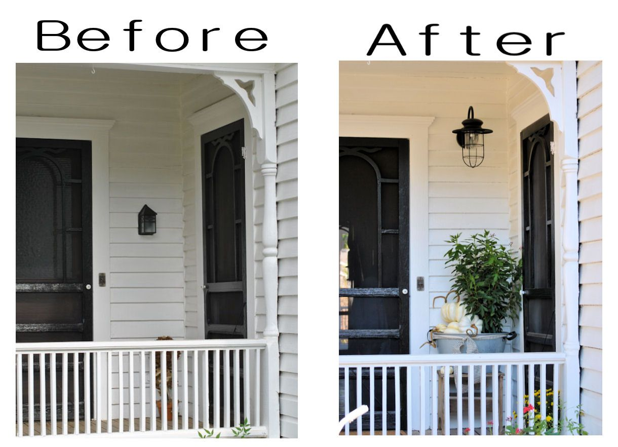 Farmhouse Exterior Lighting Farmhouse Friday 5 Farmhouse Porch Love This Simple Makeover