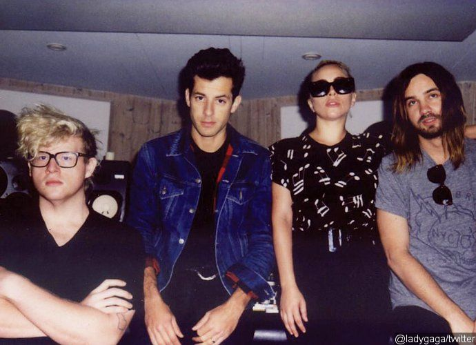 Lady GaGa Hits Recording Studio With BloodPop Mark Ronson