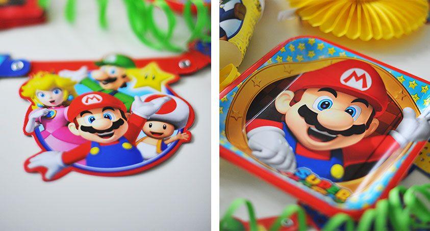 Die Super Mario Deko Strahlt In Kraftigen Farben Superhelden