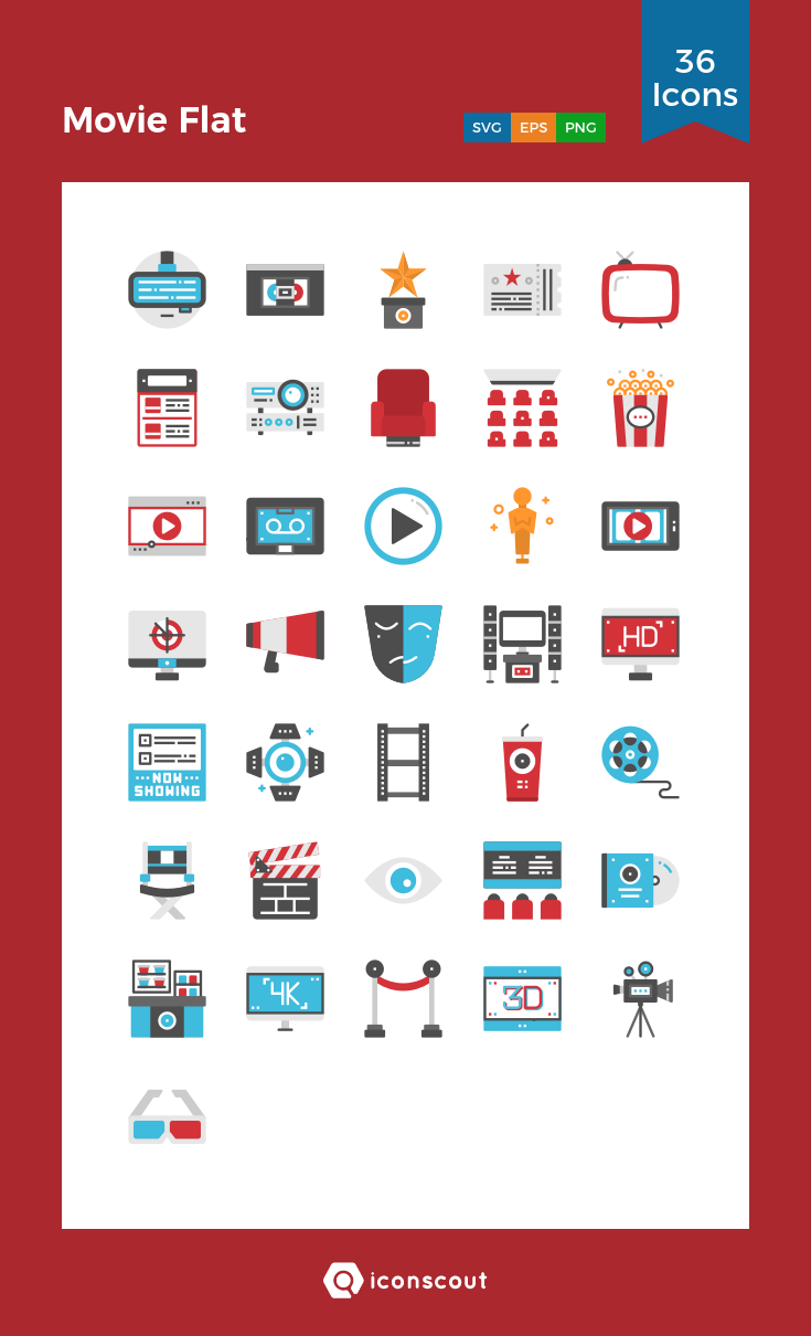 Download Download Movie Flat Icon pack - Available in SVG, PNG, EPS ...
