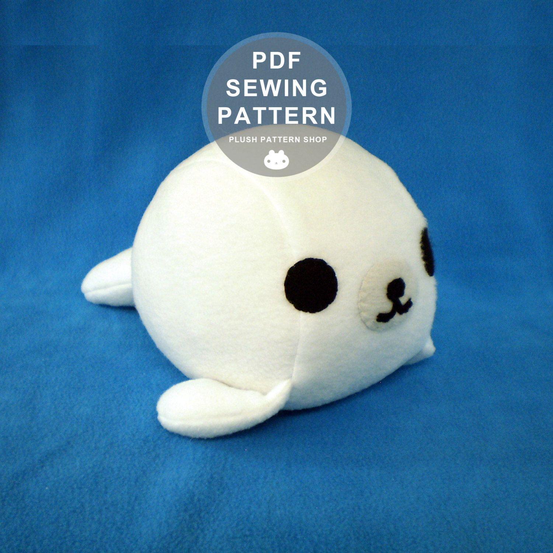 Plush Toy Pattern Baby Seal Aquatic Sewing Pattern DIY Baby Seal