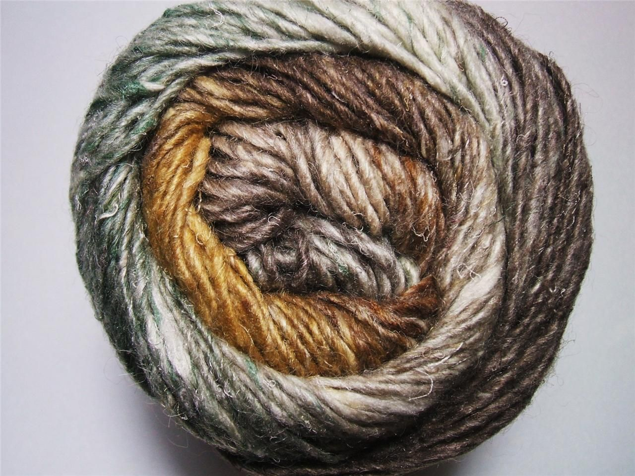 Noro Silk Garden Yarn Mohair Wool Brown Cream Green Per Skein 359 F ...