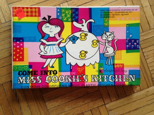 "Vintage 1957 Colorforms ""Come Into Miss Cookie's Kitchen"" Never Used 