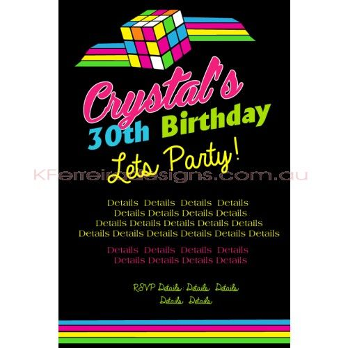 Retro 80s female birthday invite design 44 for woman adult retro 80s female birthday invite design 44 for woman adult birthday invites birthday filmwisefo