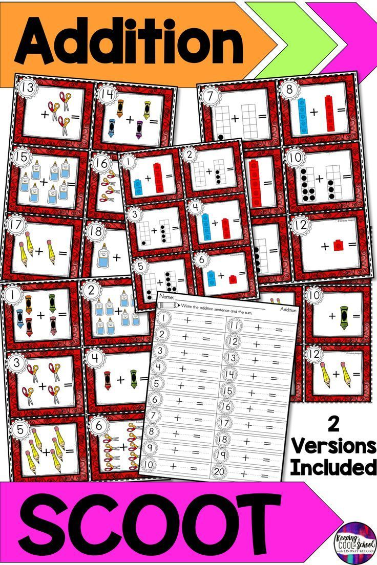 to 10 SCOOT -  Write the Room Activity Teaching addition practice in the classroom is fun and engag