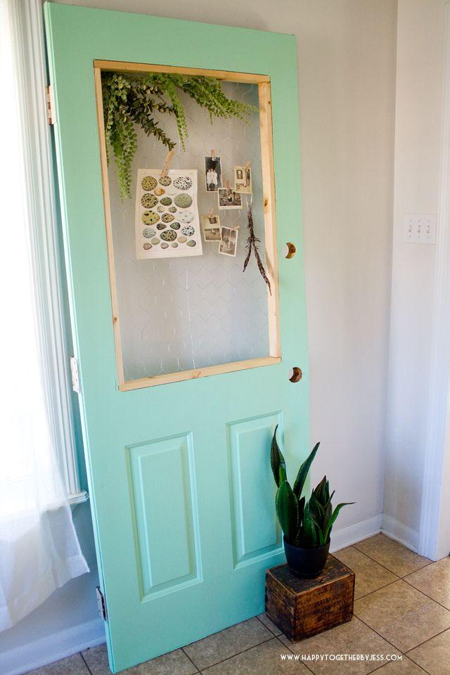 DIY Chicken Wire Display Door | Chicken wire, Display and Doors