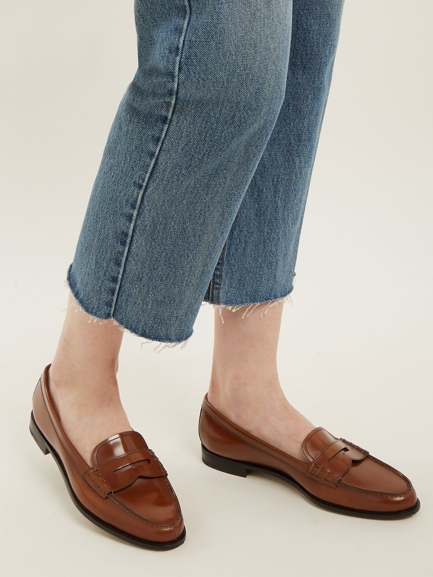 b8f0c436ac8 Kara leather penny loafers