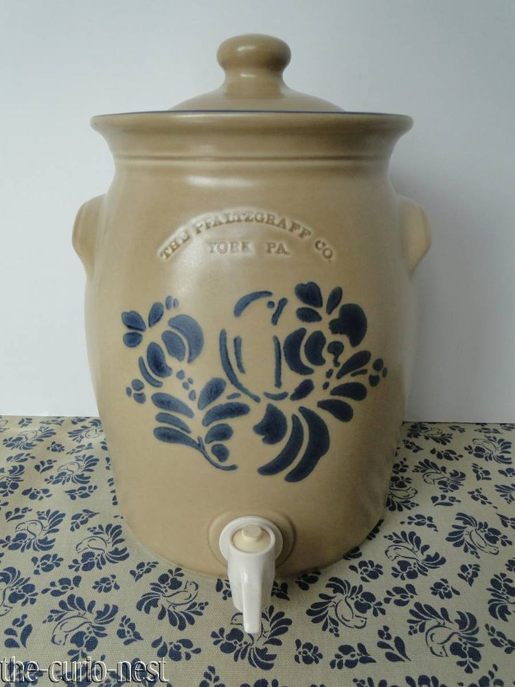 Pfaltzgraff Folk Art 1 Gallon Beverage Crock With Spigot Never Used Pfaltzgraff With Images Folk Art Pattern Art Art