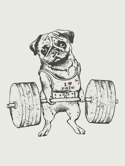 Pug Lift Art Print   Etc   Pinterest   El mejor amigo, Mejores ...