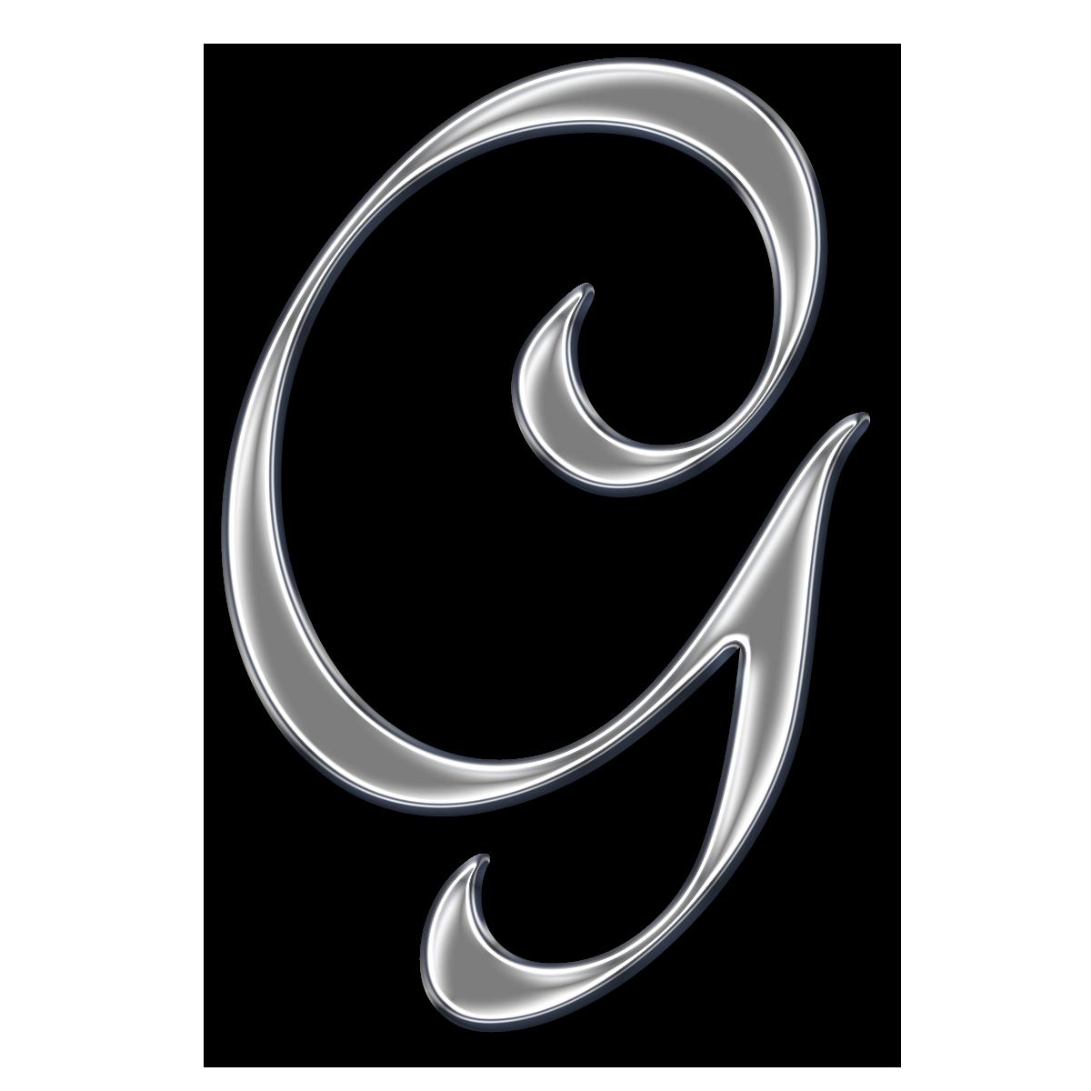 Color Monogram Letter G Font With Design Free Download