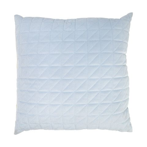 Holmen Velvet Quilted Cushion - Blue | Decor - Living Area ... : quilted cushions - Adamdwight.com