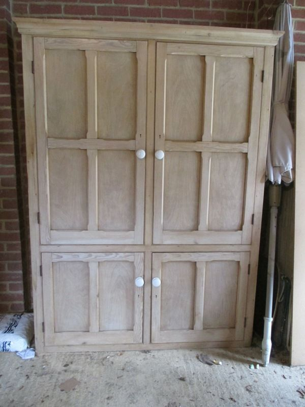 Victorian Pine Linen Cupboard - House Keepers Larder Pantry Stunning ...