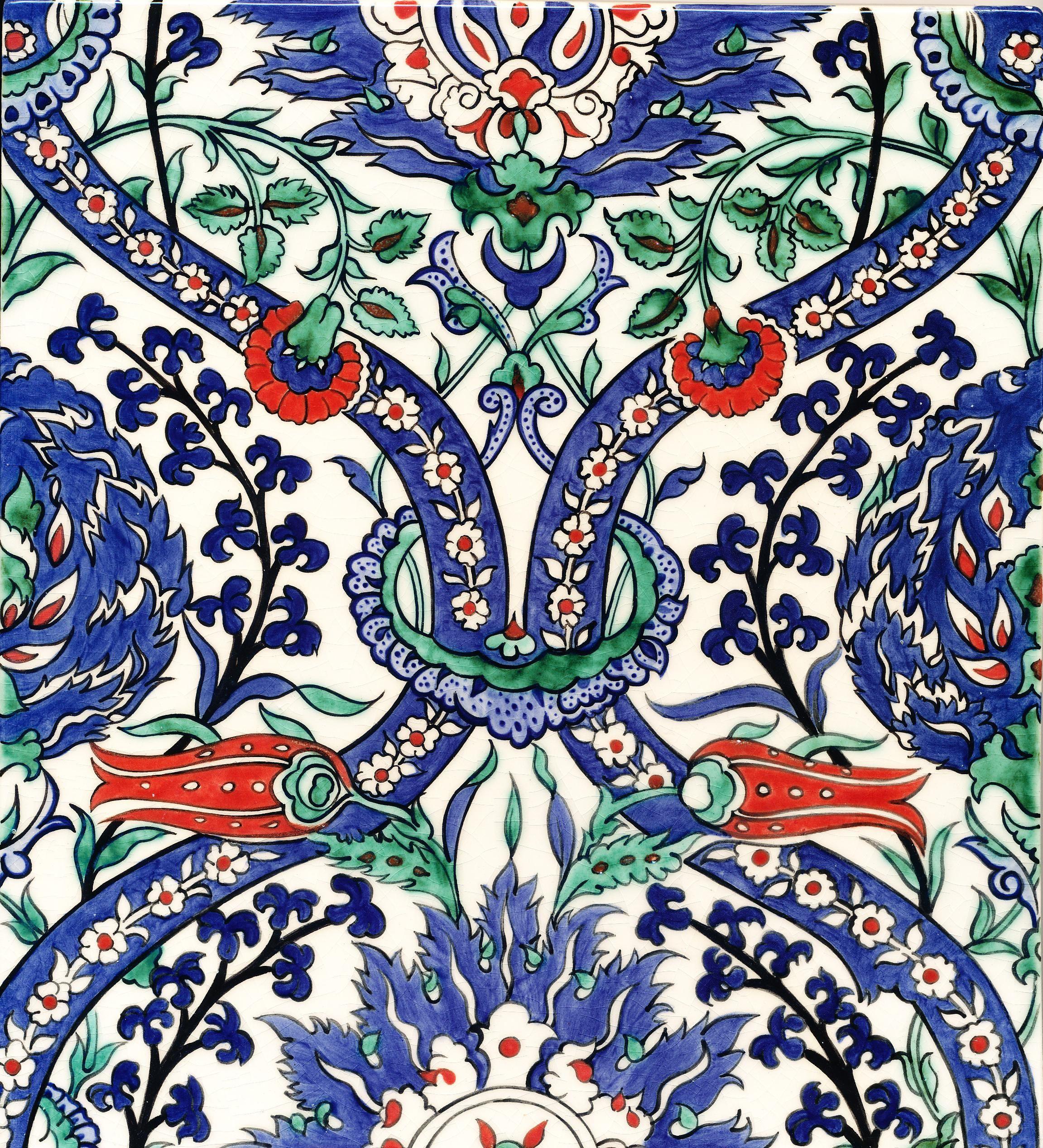 Nicholas riley iznik tile ceramic ii pinterest - Mosaik fliesen turkis ...