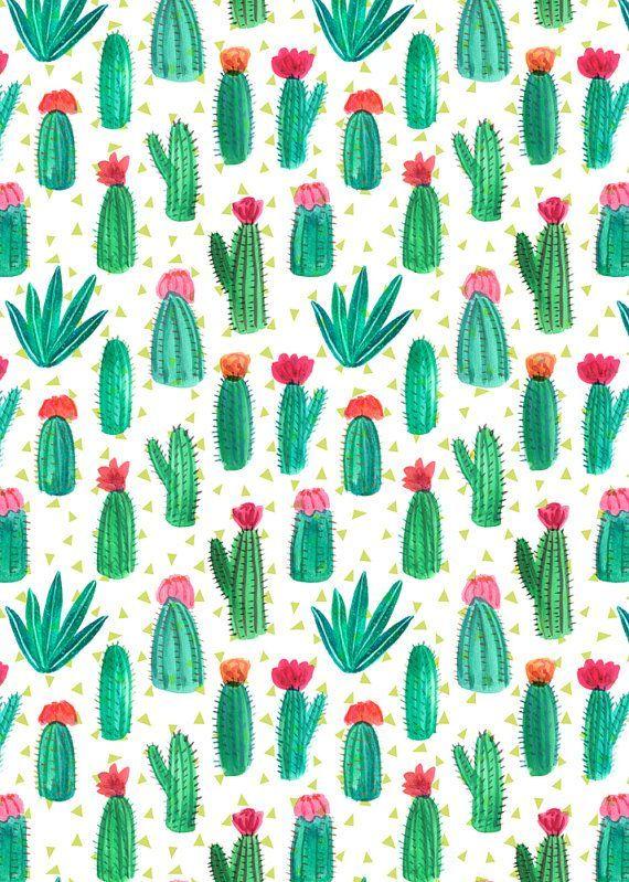A4 cacti pattern print pattern play pinterest cran for Print ecran
