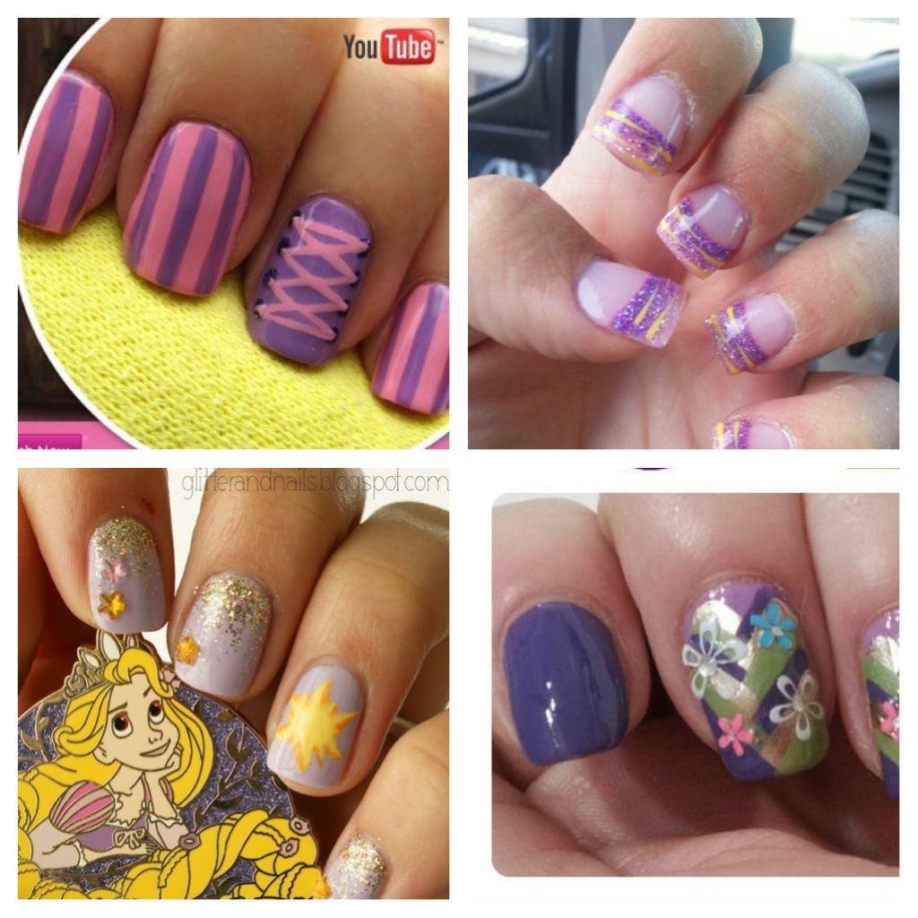 Rapunzel Inspired Nails Princess Nail Art Nail Art Disney Disney Nails