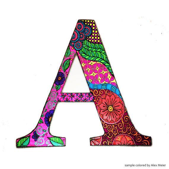 Adultos y niños mayores le encanta colorear este intrincado diseño ...