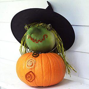 Easy Pumpkin Crafts   Witch Pumpkin   AllYou.com