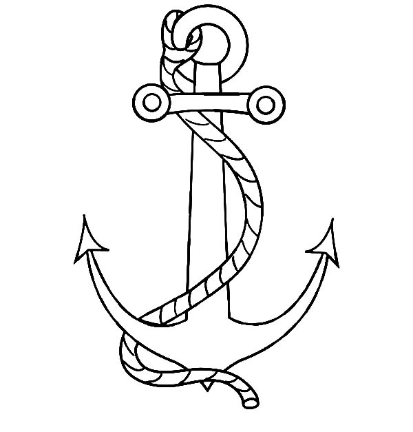 Nautical Anchor With A Rope Coloring Pages Bulk Color Coloring Pages Nautical Anchor Lego Coloring Pages