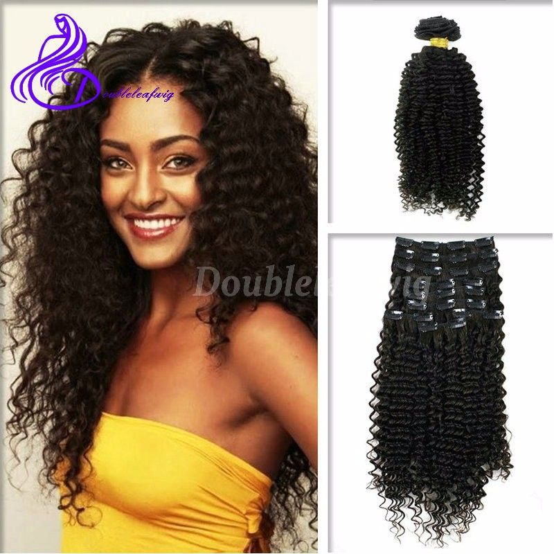 Aliexpress buy brazilian curly clip ins virgin clip in human hair aliexpress buy brazilian curly clip ins virgin clip in human hair extension 120g pmusecretfo Images