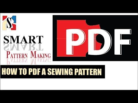 Printable PDF Sewing Pattern: How to PDF a Pattern - YouTube ...