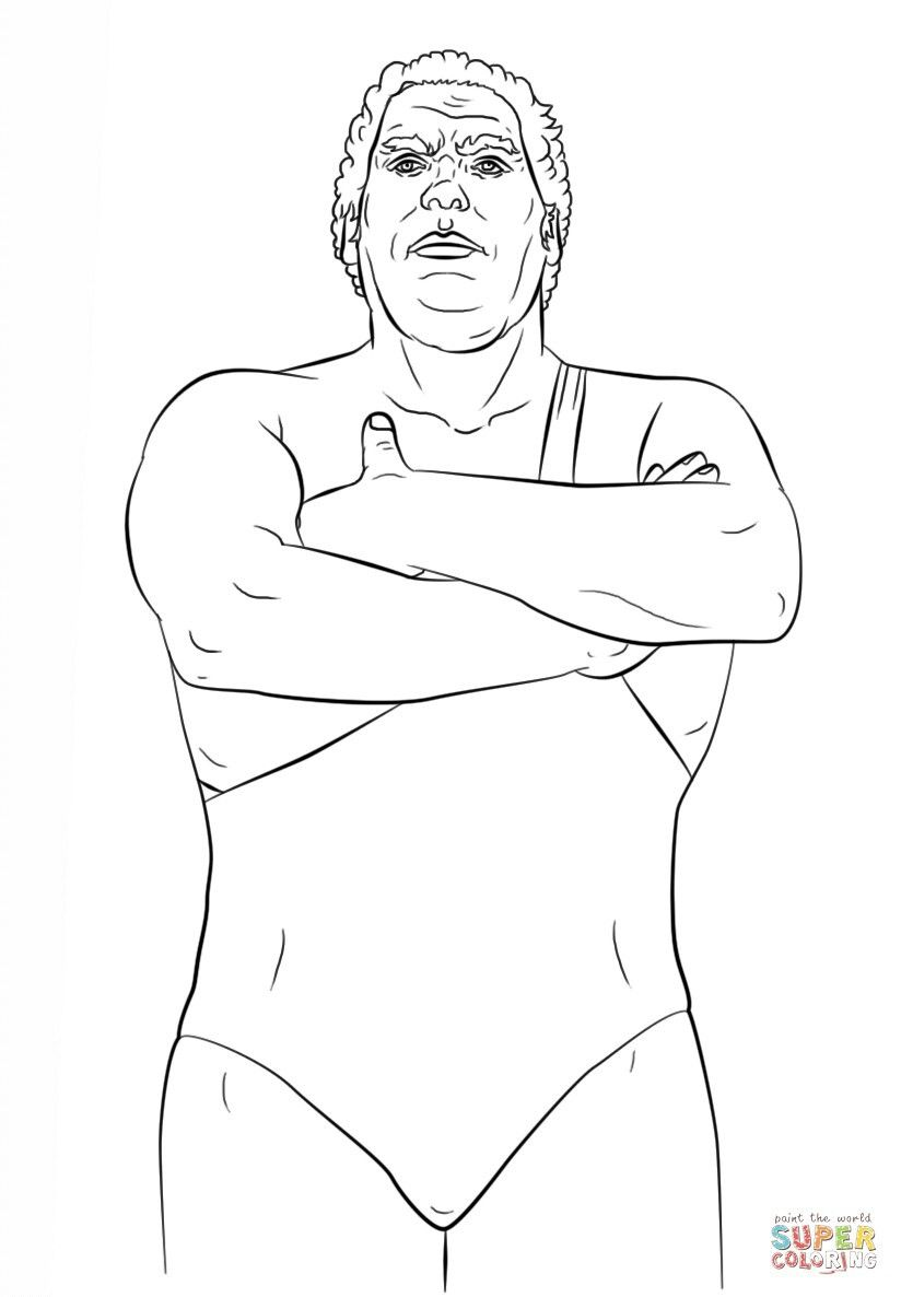 Andre The Giant With Images Coloring Pages Coloring Books