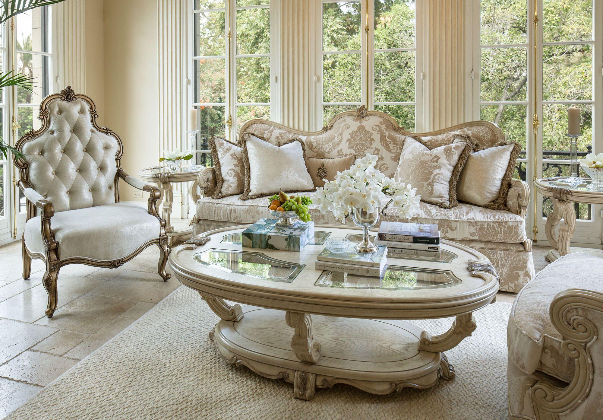 Platine de Royale Living Room Sofa Set | Michael Amini / AICO ...