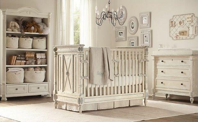 Babyzimmer Möbel Vintage Stil Holz Helle Farbe