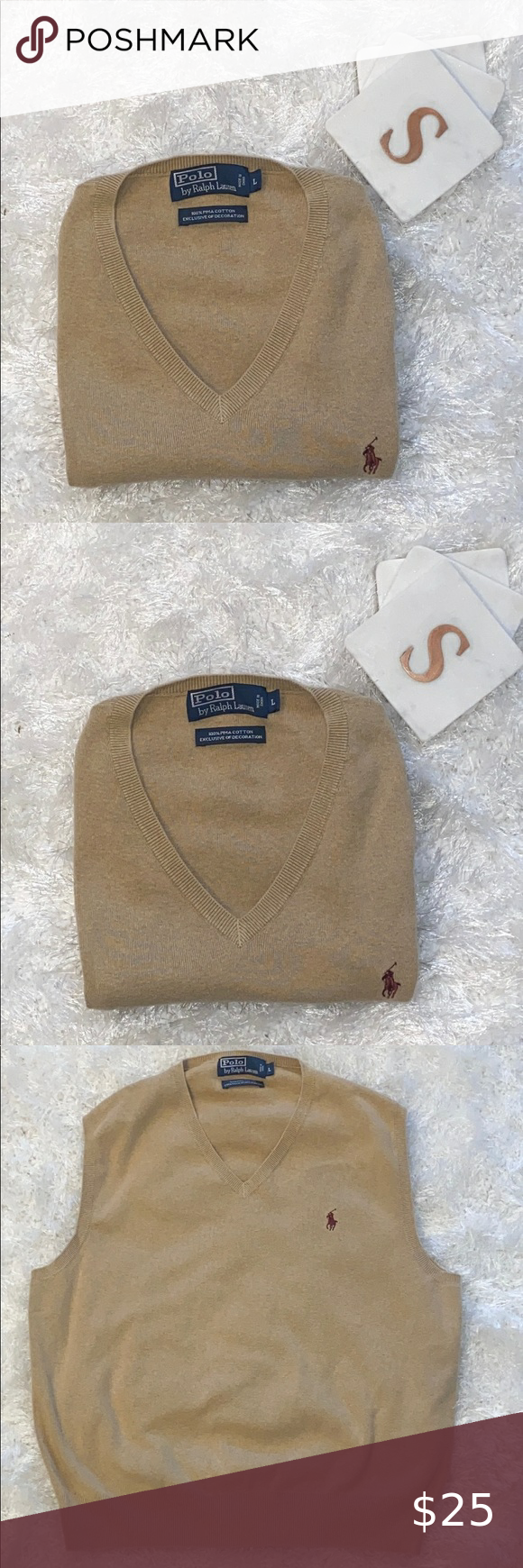 Polo Ralph Lauren Sleeveless Sweater Men Large